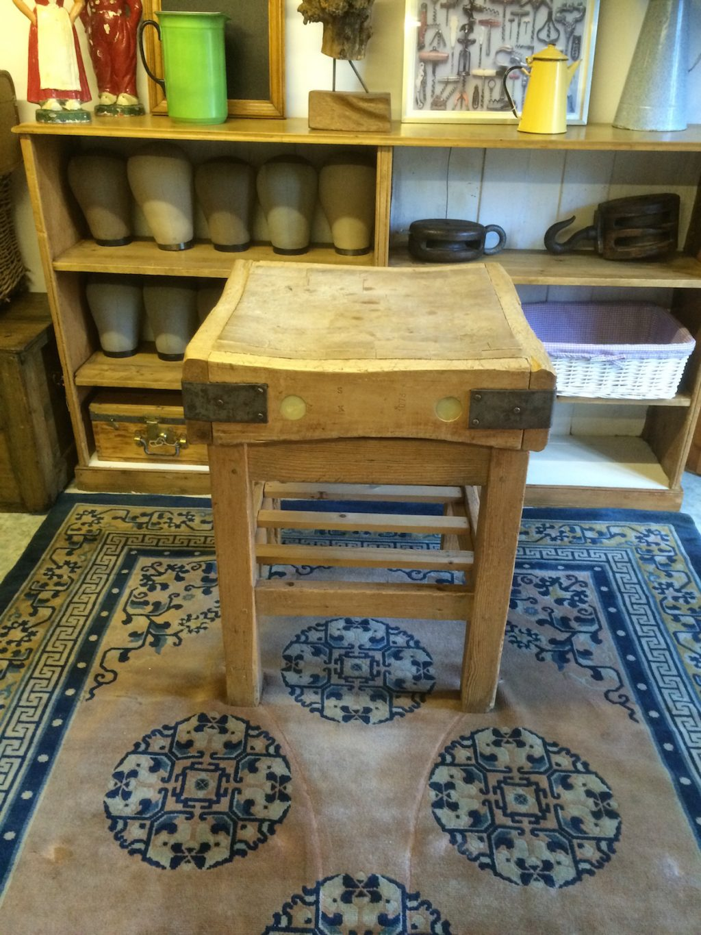 Old butcher's chopping block
