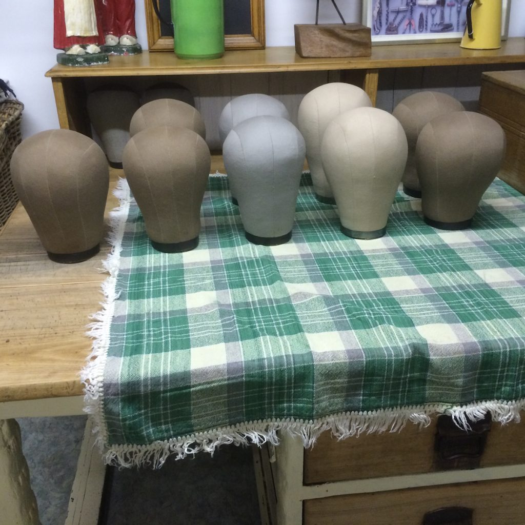 Canvas wig head stands